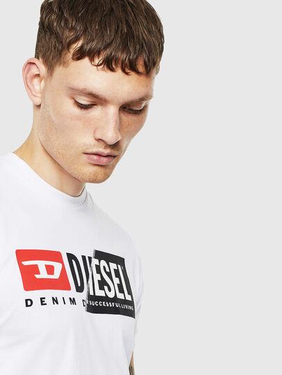 Diesel - T-DIEGO-CUTY, Bianco - T-Shirts - Image 5