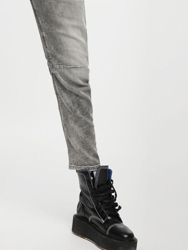 Diesel - Fayza JoggJeans 0855B, Grigio Chiaro - Jeans - Image 5