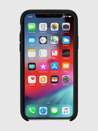 Diesel - DIESEL LEATHER CO-MOLD CASE FOR IPHONE XS & IPHONE X, Nero - Cover - Image 4