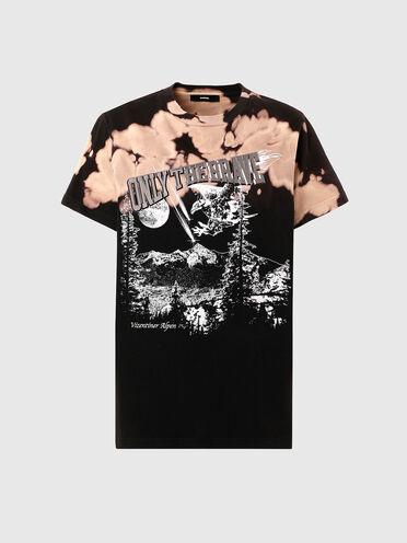 T-shirt trattata con motivo grafico