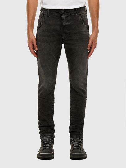 Diesel - KROOLEY JoggJeans® 009FZ, Nero/Grigio scuro - Jeans - Image 1