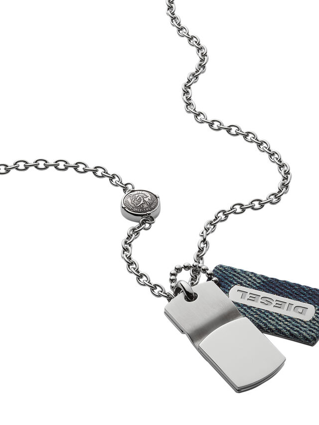 Diesel - NECKLACE DX0980, Blu Jeans - Collane - Image 2
