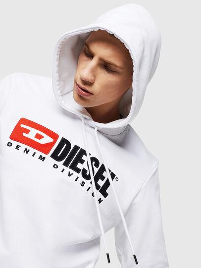 Diesel - S-GIR-HOOD-DIVISION, Bianco - Felpe - Image 3