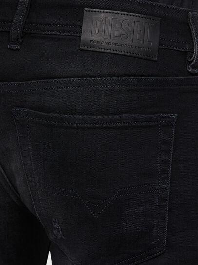 Diesel - Sleenker 0092B, Nero/Grigio scuro - Jeans - Image 4