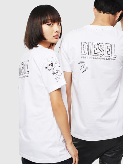 Diesel - CL-T-DIEGO-3, Bianco - T-Shirts - Image 3