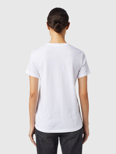 Diesel - T-SILY-B6, Bianco - T-Shirts - Image 2