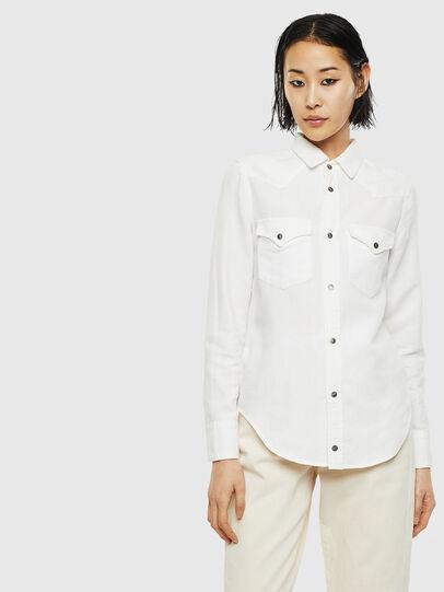 Diesel - DE-RINGY, Bianco - Camicie in Denim - Image 1