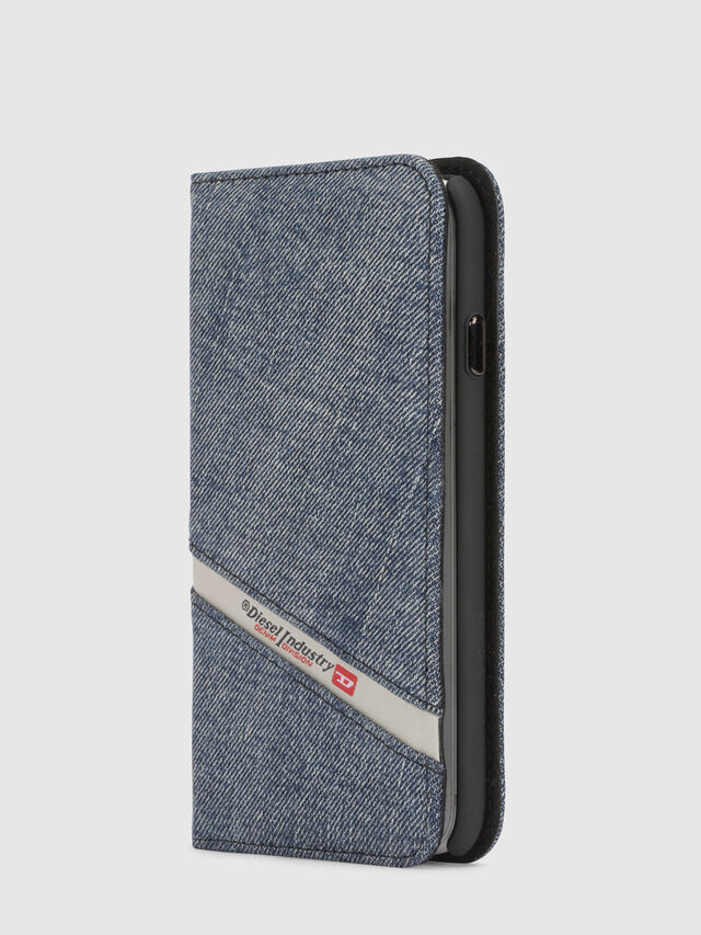 DENIM IPHONE X FOLIO, Blu Jeans