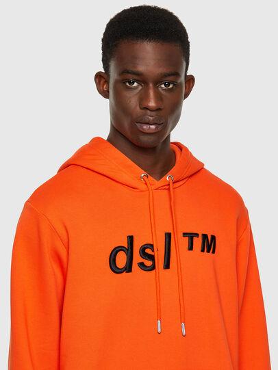 Diesel - S-GIRK-HOOD-B4, Arancione - Felpe - Image 3
