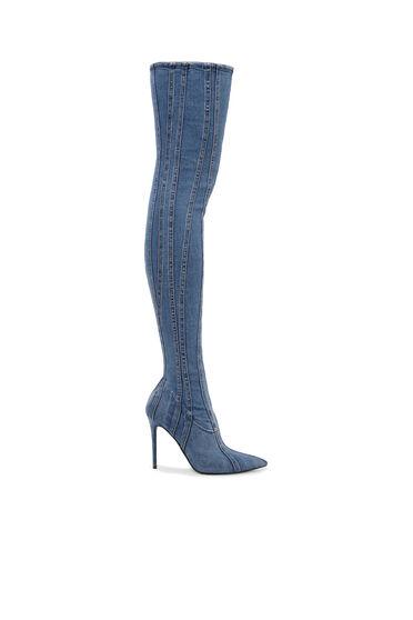 Stivali in denim sopra il ginocchio