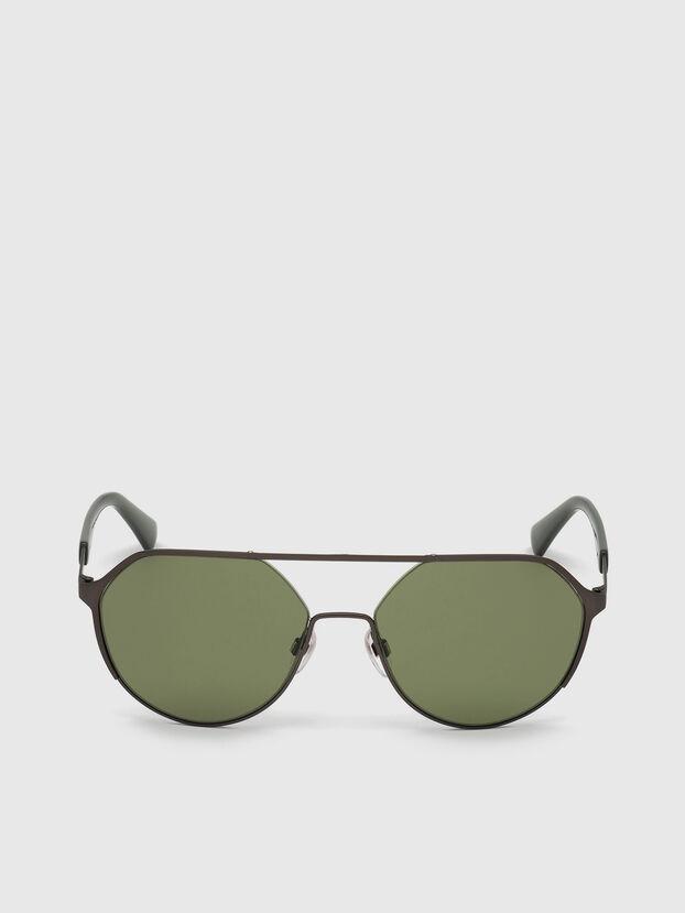 DL0324, Nero/Verde - Occhiali da sole
