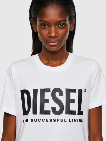Diesel - T-SILY-ECOLOGO, Bianco - T-Shirts - Image 3