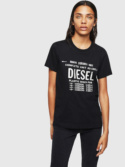 Diesel - T-SILY-ZF, Nero - T-Shirts - Image 1