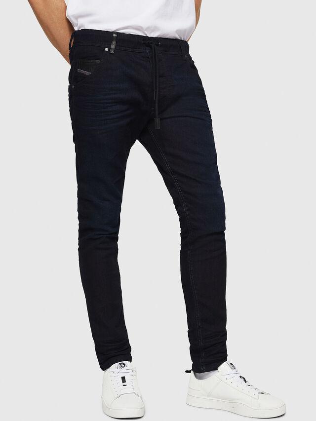 Diesel - Krooley JoggJeans 0829P, Blu Scuro - Jeans - Image 1