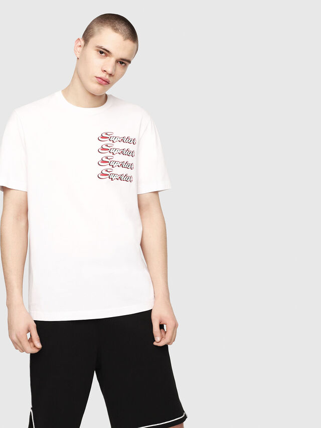 Diesel - T-JUST-Y13, Bianco - T-Shirts - Image 1