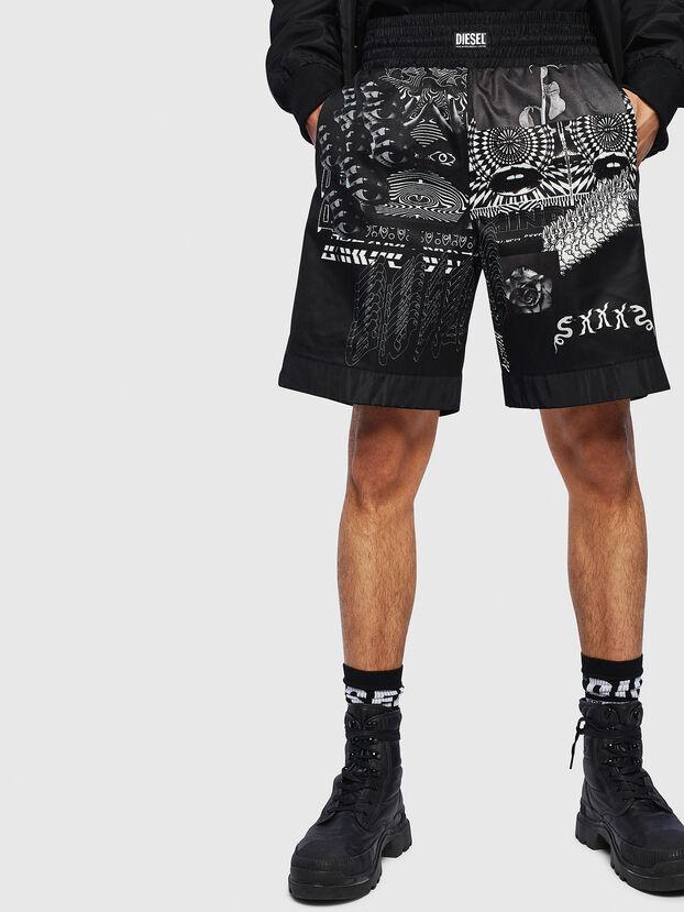 P-KUMI-PRINT-A, Nero - Shorts