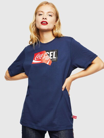 Diesel - CC-T-JUST-COLA, Blu Scuro - T-Shirts - Image 2