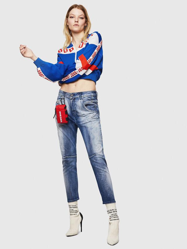 Diesel - Fayza JoggJeans 0870N, Blu medio - Jeans - Image 5