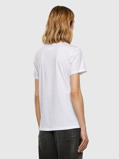 Diesel - T-SILY-E53, Bianco - T-Shirts - Image 6