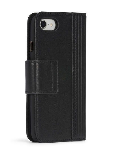 Diesel - BLACK LINED LEATHER IPHONE 8 PLUS/7 PLUS FOLIO,  - Cover a libro - Image 7