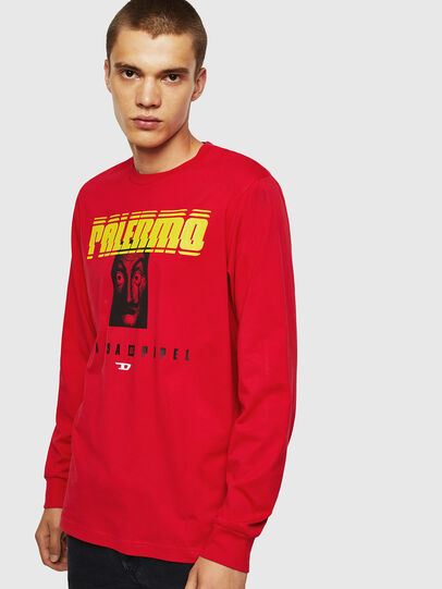 Diesel - LCP-T-JUST-LS-PALERM, Rosso - T-Shirts - Image 1