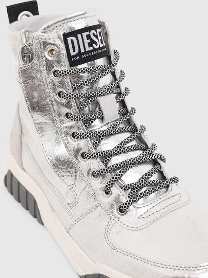 Diesel - S-RUA MID W, Argento - Sneakers - Image 4