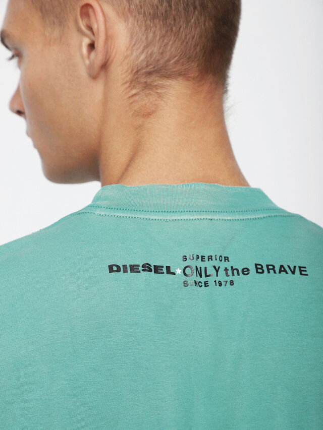 Diesel - T-JOEY-T, Verde Acqua - T-Shirts - Image 3