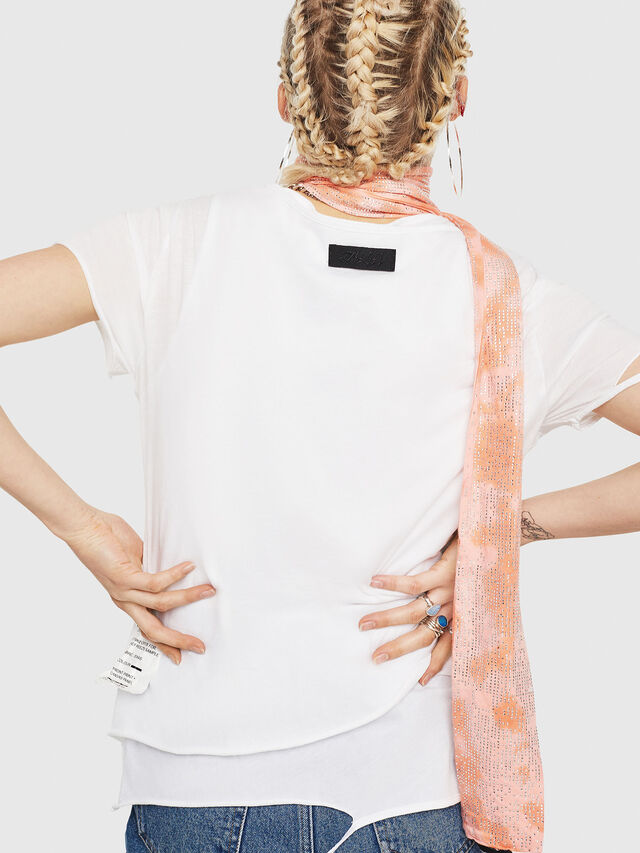 Diesel - T-EMIKO-C, Bianco/Nero - T-Shirts - Image 2
