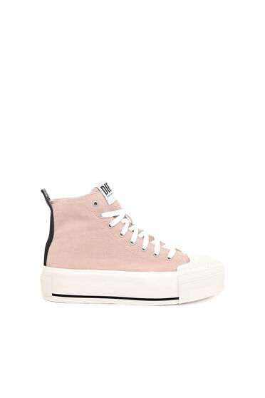 Sneaker alte in velluto washed