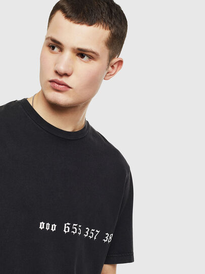 Diesel - T-JUST-T12, Nero - T-Shirts - Image 3