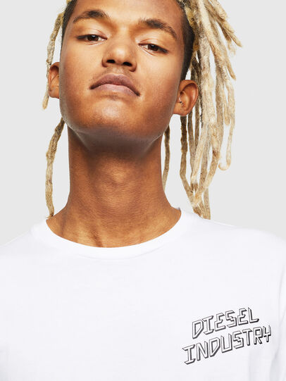Diesel - T-DIEGO-LS-J1, Bianco - T-Shirts - Image 4