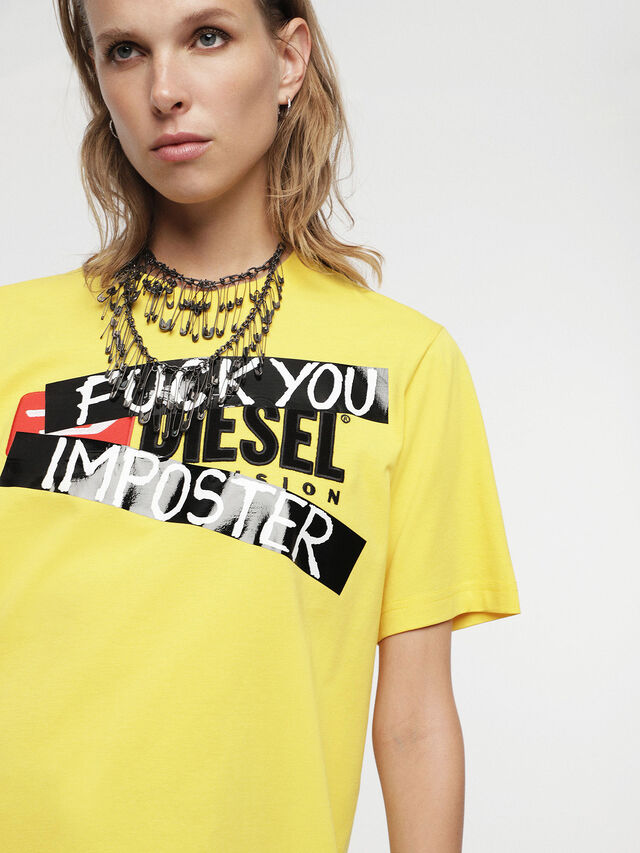 Diesel - HC-T-JUST-DIVISION-B, Giallo - T-Shirts - Image 8