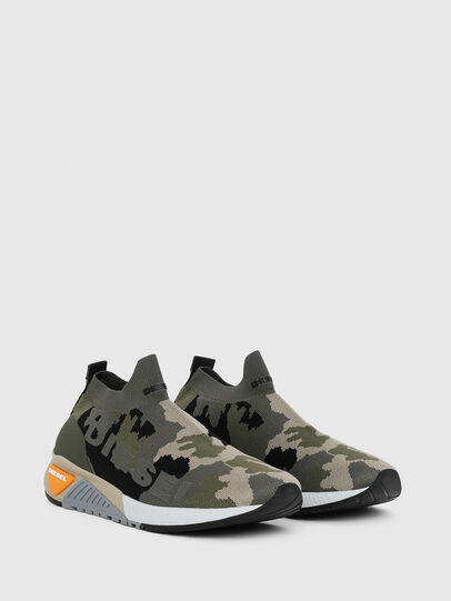 Diesel - S-KB ATHL SOCK II, Verde Camo - Sneakers - Image 2