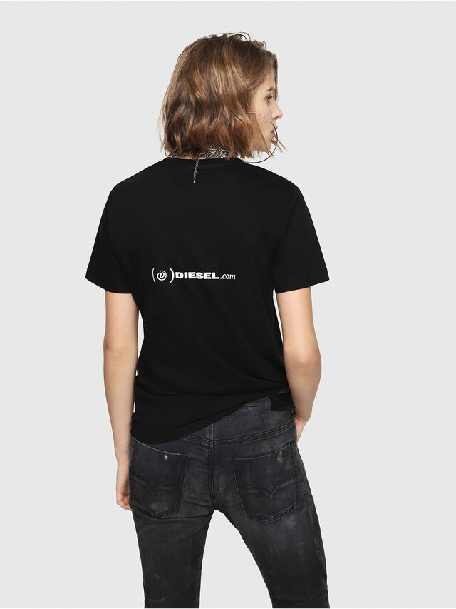 Diesel - CL-T-GADIE, Nero - T-Shirts - Image 4