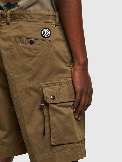 Diesel - P-APE, Verde Militare - Shorts - Image 4