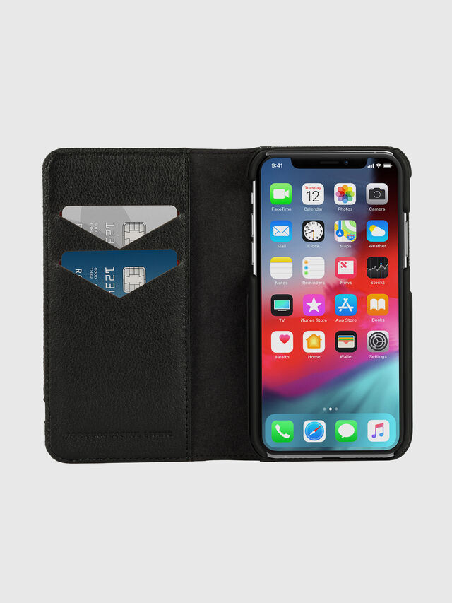 Diesel - DIESEL 2-IN-1 FOLIO CASE FOR IPHONE XS & IPHONE X, Grigio - Cover a libro - Image 7