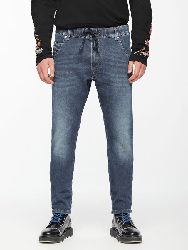 Diesel - Krooley JoggJeans 084UB, Blu medio - Jeans - Image 3