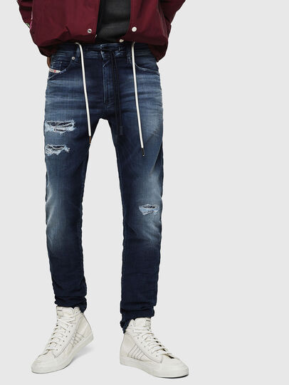Diesel - Thommer JoggJeans 069JF, Blu Scuro - Jeans - Image 1
