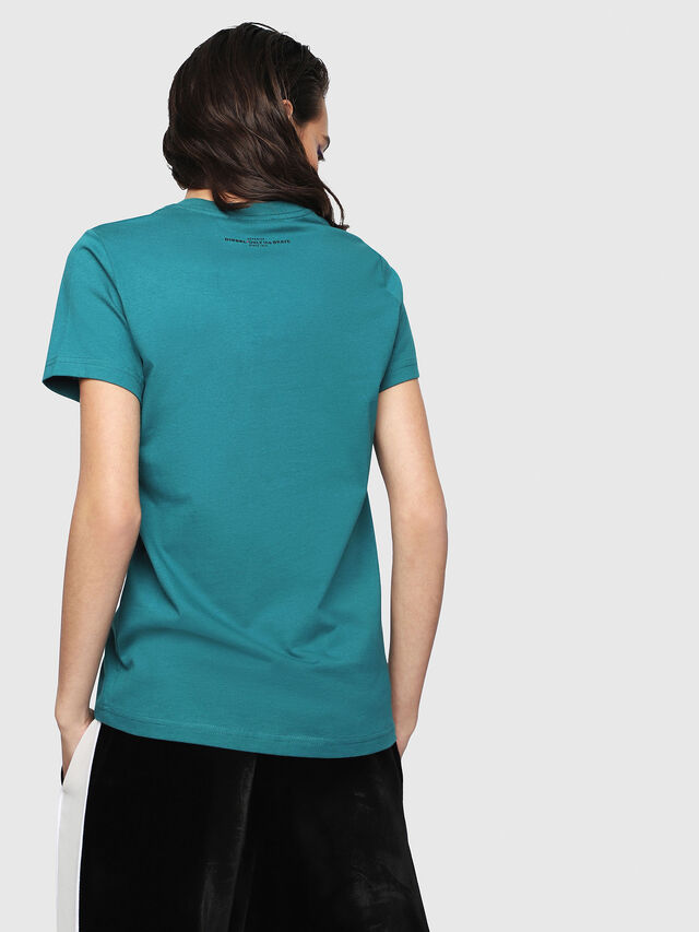Diesel - T-SILY-WG, Verde Scuro - T-Shirts - Image 2