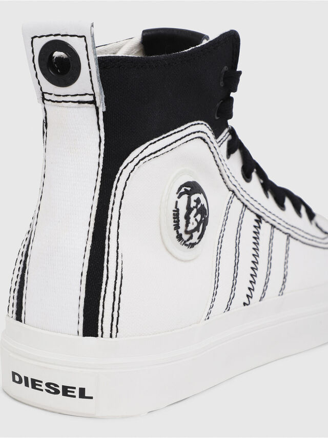 Diesel - S-ASTICO MID LACE, Bianco/Nero - Sneakers - Image 4
