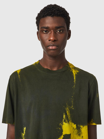 Diesel - T-JUST-B84, Verde/Giallo - T-Shirts - Image 2