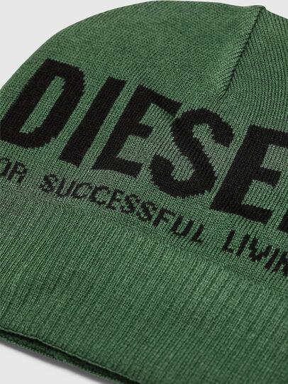 Diesel - K-BECKY-B, Verde Scuro - Cappelli invernali - Image 3
