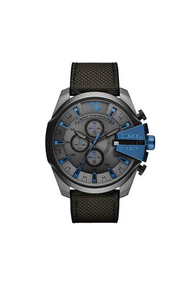 Mega Chief cronografo con cinturino nero e grigio