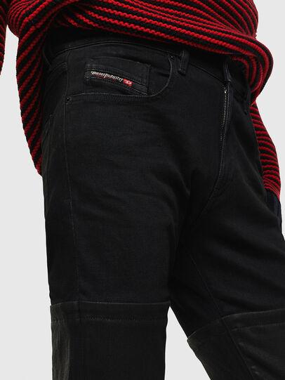 Diesel - D-Strukt 0091W, Nero/Grigio scuro - Jeans - Image 4