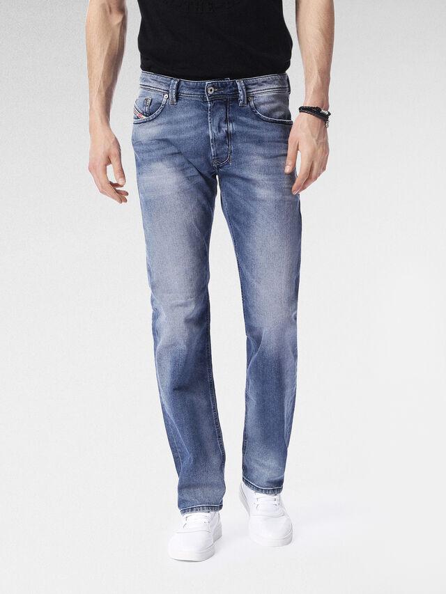 6593cf1a3333 LARKEE 0853P Uomo  Straight Jeans Blu chiaro