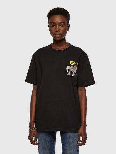 T-shirt con grafiche emoji