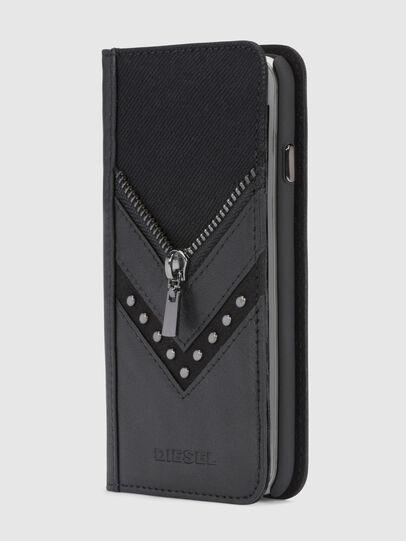 Diesel - BLACK DENIM/STUD/ZIPPER IPHONE 8/7 FOLIO,  - Cover a libro - Image 1