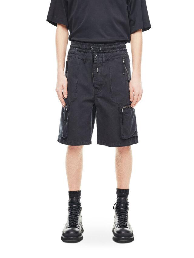 Diesel - PHILOS, Nero - Shorts - Image 1
