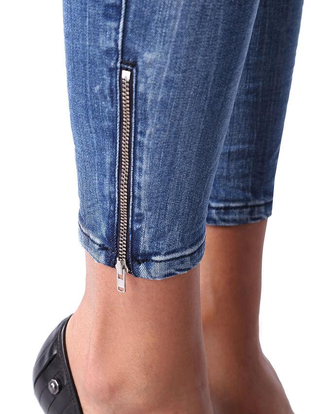 Diesel - Skinzee Low Zip 0847U, Blu medio - Jeans - Image 6
