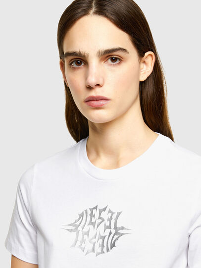 Diesel - T-SILY-K9, Bianco - T-Shirts - Image 3
